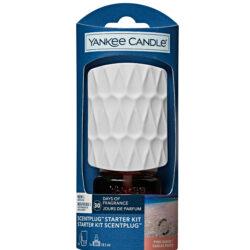 Yankee Candle Scentplug Starter Kit Organic Pink Sands,per diffondere la tua fragranza preferita con fragranza inclusa ,durata più di 30 giorni,regolazione intensità. uno straordinario mix di agrumi briosi, fiori dolci e magica vaniglia.